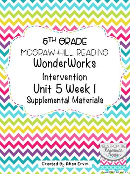 5th Grade Reading WonderWorks Supplement- Unit 5 Week 1