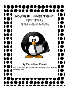 5th Grade Reading Wonders Word Search Activity Unit 1 Week 3