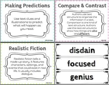 5th Grade Reading Wonders Focus Wall Unit 5