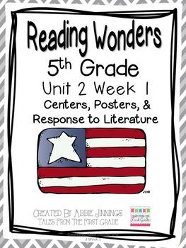 5th Grade Reading Wonders-  Unit 2 Week 1