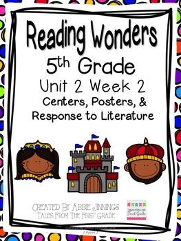 5th Grade Reading Wonders-  Unit 2 Week 2