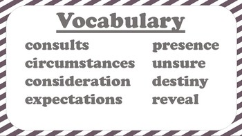 5th Grade Reading Wonders Unit 2 Week 2 Vocabulary with Definitions Word Wall
