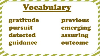 5th Grade Reading Wonders Unit 2 Week 4 Vocabulary with Definitions Word Wall