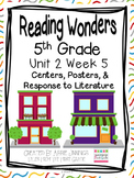 5th Grade Reading Wonders-  Unit 2 Week 5