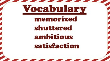5th Grade Reading Wonders Unit 2 Week 5 Vocabulary with Definitions Word Wall