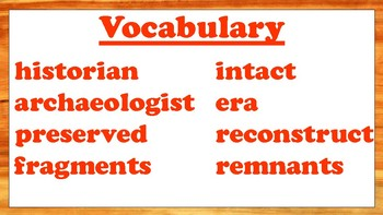 5th Grade Reading Wonders Unit 3 Week 5 Vocabulary with Definitions Word Wall