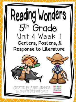 5th Grade Reading Wonders- Unit 4 Week 1