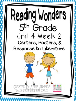 5th Grade Reading Wonders- Unit 4 Week 2