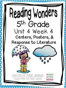 5th Grade Reading Wonders- Unit 4 Week 4