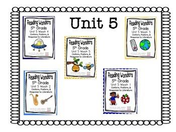 5th Grade Reading Wonders-  Unit 5 - Bundle