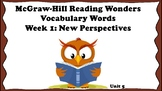 5th Grade Reading Wonders Unit 5 Week 1 Vocabulary with Definitions Word Wall
