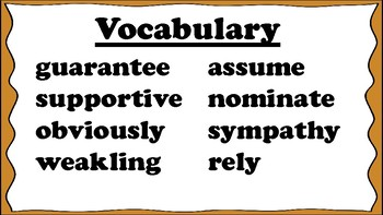 5th Grade Reading Wonders Unit 5 Week 2 Vocabulary with Definitions Word Wall