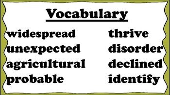 5th Grade Reading Wonders Unit 5 Week 5 Vocabulary with Definitions Word Wall