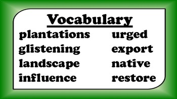 5th Grade Reading Wonders Unit 6 BUNDLE Vocabulary with Definitions Word