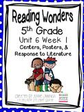 5th Grade Reading Wonders- Unit 6 Week 1