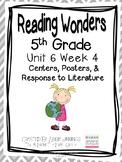 5th Grade Reading Wonders- Unit 6 Week 4