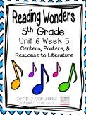5th Grade Reading Wonders- Unit 6 Week 5