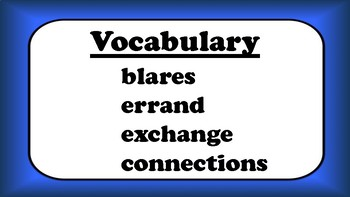 5th Grade Reading Wonders Unit 6 Week 5 Vocabulary with Definitions Word Wall