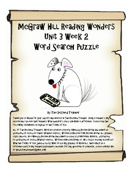 5th Grade Reading Wonders Word Search Activity Unit 3 Week 2