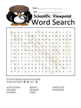 5th Grade Reading Wonders Word Search Activity Unit 5 Week 5