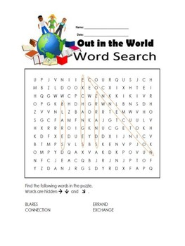 5th Grade Reading Wonders Word Search Activity Unit 6 Week 5
