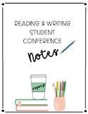 5th Grade Reading & Writing Conference Notebook