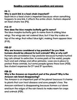 5th Grade Ready Gen Rain Forest Food Chains vocab, quiz, & questions