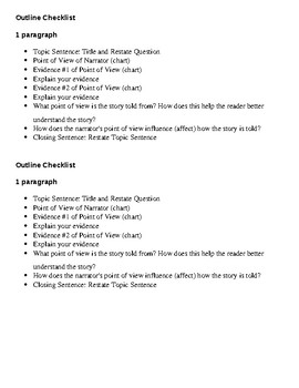 5th Grade Ready Louisiana Lesson 17: Point of View Writing Checklist