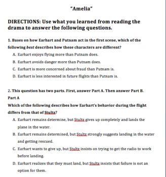 5th Grade Ready Louisiana Lesson 5: Compare/Contrast Characters in a Drama Test