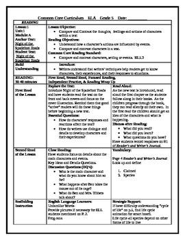 5th grade readygen ela lesson plan unit 1 module a lesson 1 by