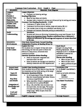 5th grade readygen ela lesson plan unit 1 module a lesson 6 by