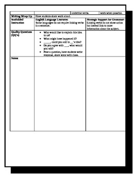"5th Grade ReadyGen Lesson Plan ELA Unit 1 Module A Lesson 12  ""Shells"""