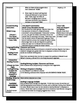"""5th Grade ReadyGen Lesson Plan ELA Unit 1 Module A Lesson 13 """"Shells"""""""