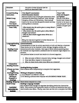 5th Grade ReadyGen Lesson Plan ELA Unit 1 Module A Lesson 15