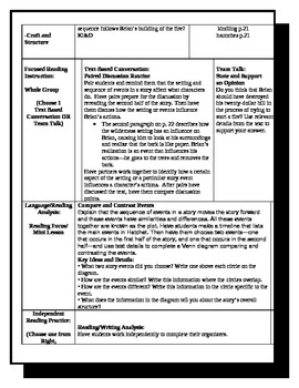 5th Grade ReadyGen Lesson Plan ELA Unit 1 Module A Lesson 16