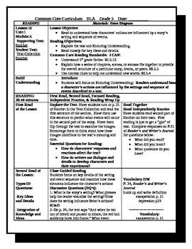 5th Grade ReadyGen Lesson Plan ELA Unit 1 Module A Lesson 16