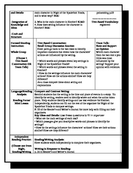 5th Grade ReadyGen Lesson Plan ELA Unit 1 Module A Lesson 17