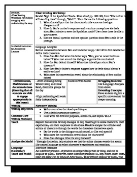 5th Grade ReadyGen Lesson Plan ELA Unit 1 Module A Lesson 8
