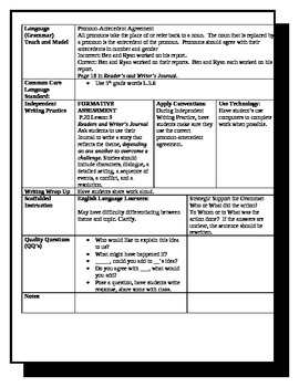 5th Grade ReadyGen Lesson Plan ELA Unit 1 Module A Lesson 9