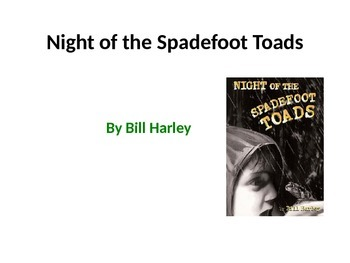 5th Grade Readygen Unit 1 Power Point - Night of the Spadefoot Toads