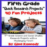 5th Grade Research Projects, Science and Social Studies Projects With a Twist!