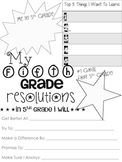 5th Grade Resolution Sheet