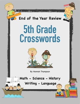 5th Grade Review Crosswords