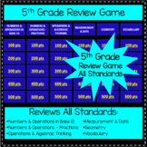 5th Grade Review Game - All Standards, Common Core Alligned