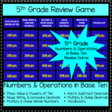 5th Grade Review Game - Numbers and Operations in Base Ten