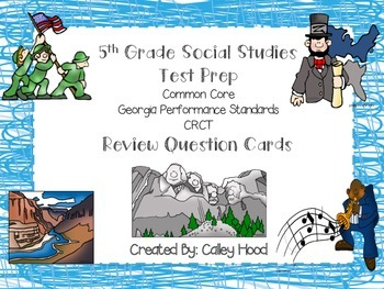 5th Grade Review Question Card Bundle CC, GPS, GA Milestones