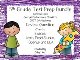 5th Grade Review Question Card Bundle CC, GPS, GA Milestones