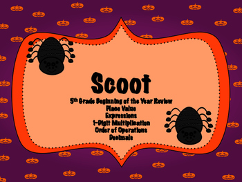 5th Grade Review Scoot - Halloween Themed