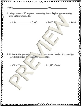 5th Grade Math Modules Review Tests Bundle for All Modules & Answer Keys!