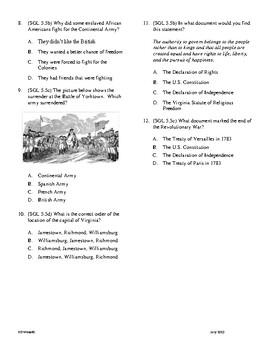 5th Grade Revolutionary War Unit Test